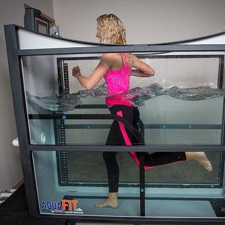 Underwater treadmills for Humans